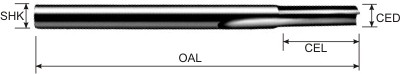 One Straight Flute Bits Specifications