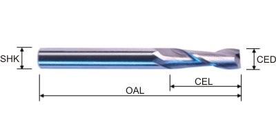 2 Flute Upward Spiral - Specifications