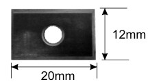 120 degree Replaceable Insert Vee cutter replacement blade specifications