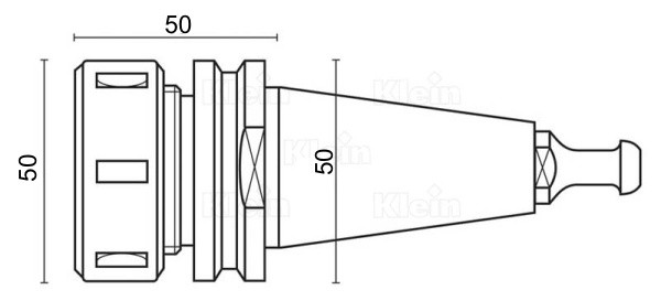 HSD ISO30 tool holder dimensions and specifications