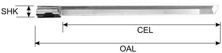 Oscillating Knife Blade. Single Edged flat point specifications