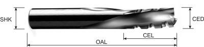 Chip breaker finisher spiral cutter for phenolic material