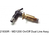 21830R - MD1200 On+Off Dual Line Switch Assembly